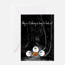 Scared Golf Balls Birthday Card