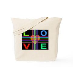 Love Rays Juicy Orange Heart Tote Bag