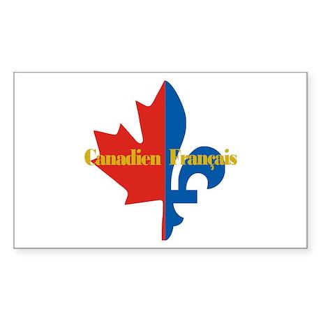 Canadien Francais 3 Sticker (Rectangle)