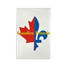Canadien Francais 3 Rectangle Magnet