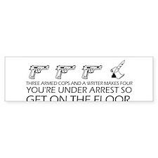 """Get On The Floor"" Bumper Sticker"