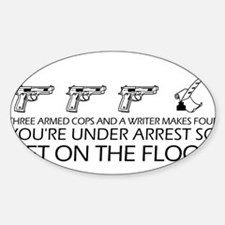 """""""Get On The Floor"""" Sticker (Oval)"""
