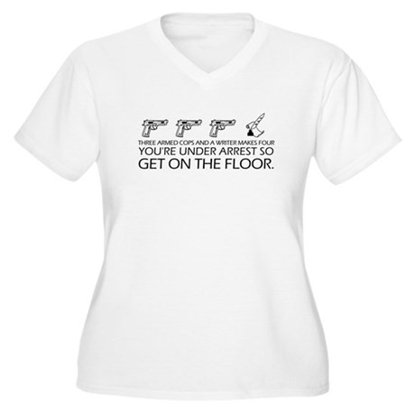 """Get On The Floor"" Women's Plus Size V-Neck T-Shir"