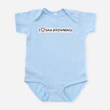 I Love Sam Brownback Infant Creeper