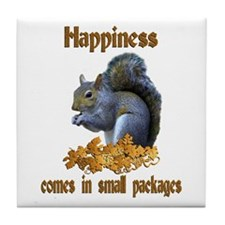 Squirrel Happiness Tile Coaster