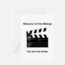 Film Making Broke Greeting Card
