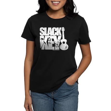 Slack Key Guitar Women's Dark T-Shirt