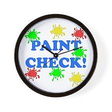 Paint Check! Wall Clock