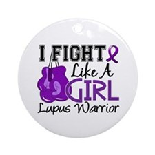 Licensed Fight Like a Girl 15.2 L Ornament (Round)