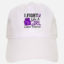 Licensed Fight Like a Girl 15.2 Lupus Baseball Baseball Cap
