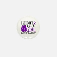 Licensed Fight Like a Girl 1 Mini Button (10 pack)