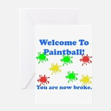 Paintball Broke Greeting Card