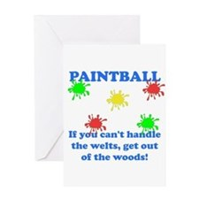 Paintball Welts Greeting Card