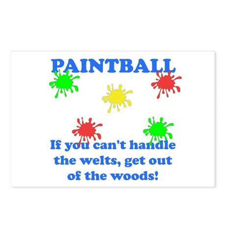 Paintball Welts Postcards (Package of 8)