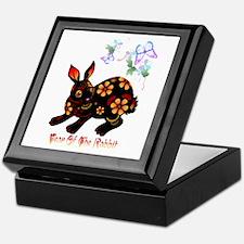 Year Of The Rabbit In Black Keepsake Box