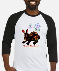 Year Of The Rabbit In Black Baseball Jersey