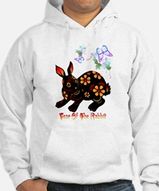 Year Of The Rabbit In Black Jumper Hoody
