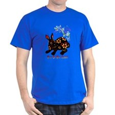 Year Of The Rabbit In Black T-Shirt