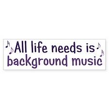 Background Music Bumper Bumper Sticker