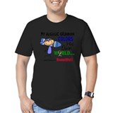 Grandpa autism Fitted T-shirts (Dark)