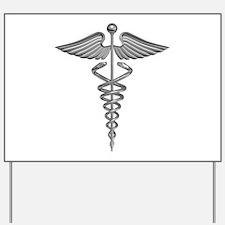 Silver Medical Symbol Yard Sign
