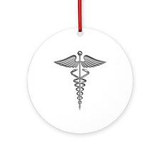 Silver Medical Symbol Ornament (Round)