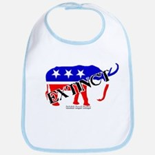 Extinct Republican Party Symbol Bib