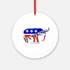 Extinct Republican Party Symbol Ornament (Round)
