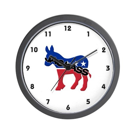 Democratic Party Jackass Symbol Wall Clock