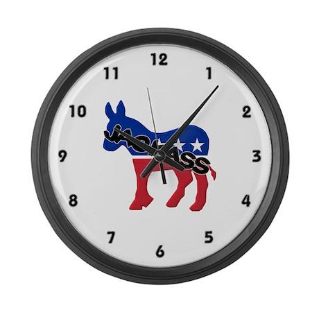 Democratic Party Jackass Symbol Large Wall Clock