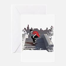 8 Stair Ollie Greeting Card