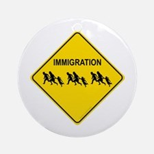 Immigration Crossing Ornament (Round)