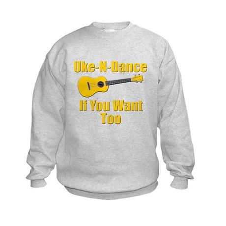 funny ukulele Kids Sweatshirt