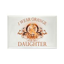 I Wear Orange for my Daughter (floral) Rectangle M