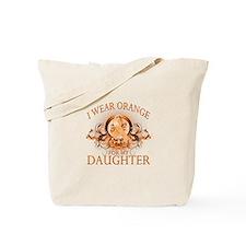 I Wear Orange for my Daughter (floral) Tote Bag