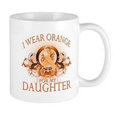 I Wear Orange for my Daughter (floral) Mug
