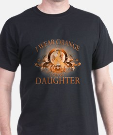 I Wear Orange for my Daughter (floral) T-Shirt