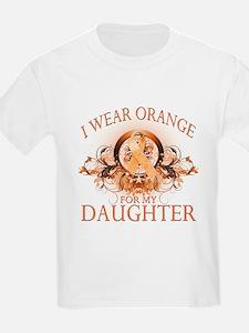 I Wear Orange for my Daughter (floral) T-Shirt
