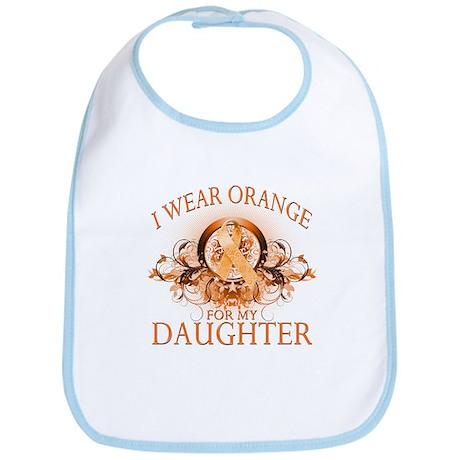 I Wear Orange for my Daughter (floral) Bib