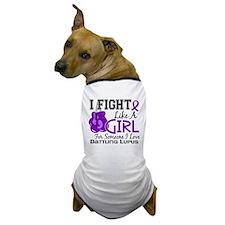 Fight Like A Girl Lupus Dog T-Shirt