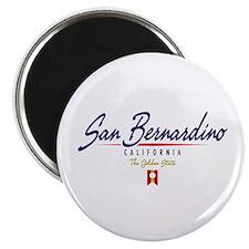 San Bernardino Script Magnet