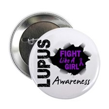 "Fight Like A Girl Lupus 2.25"" Button (10 pack)"