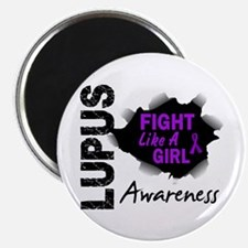 """Fight Like A Girl Lupus 2.25"""" Magnet (100 pack)"""