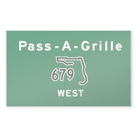 Pass A Grille 679 Sticker (Rectangle)