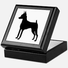 MinPin Silhouette Keepsake Box