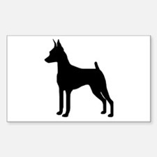 MinPin Silhouette Rectangle Stickers