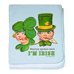 I'M IRISH baby blanket