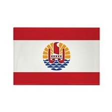 French Polynesia Flag Rectangle Magnet