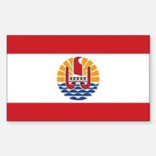 French Polynesia Flag Sticker (Rectangle)