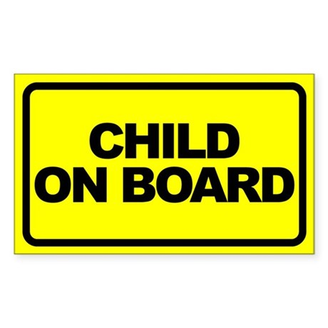 Baby on Board Car Stickers Sticker (Rectangle 10 p